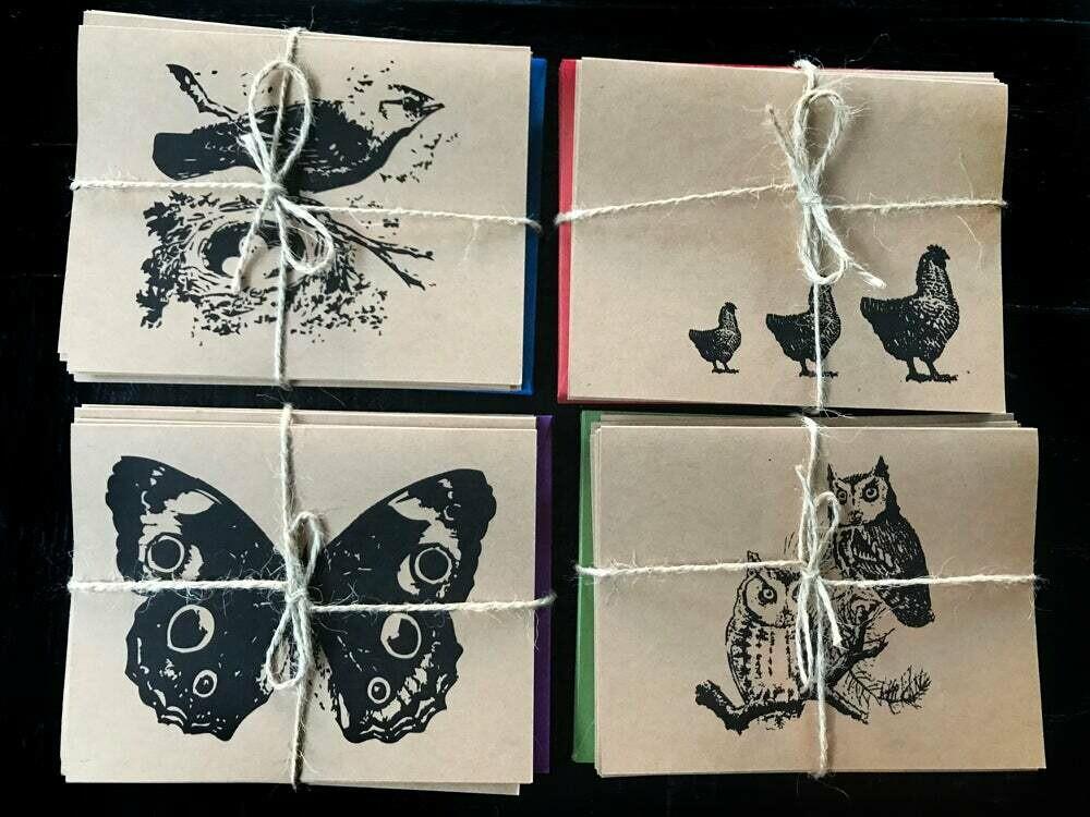 Woodland Animals - Set of 8 Assorted Cards