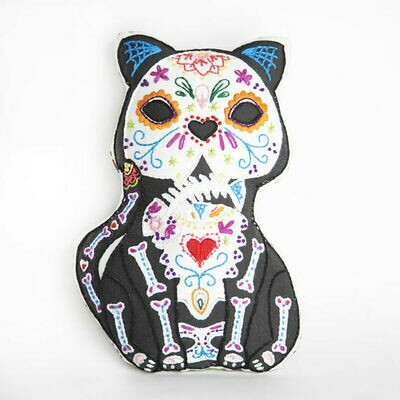 Crafty Creatures Embroidery Kit - Sugar Skull Cat
