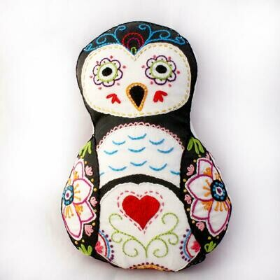 Crafty Creatures Embroidery Kit - Sugar Skull Owl