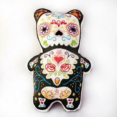 Crafty Creatures Embroidery Kit - Sugar Skull Bear