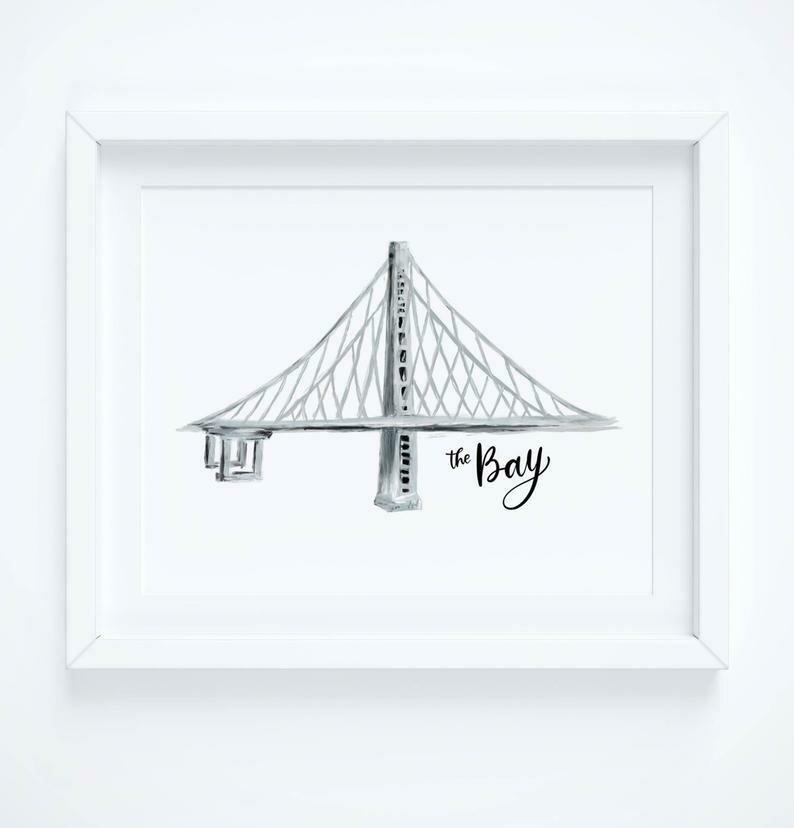 Bay Bridge - The Bay, 8x10 Art Print