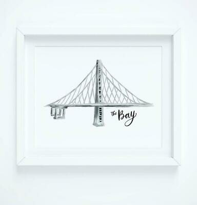 Bay Bridge - The Bay, 8x10 Art Print