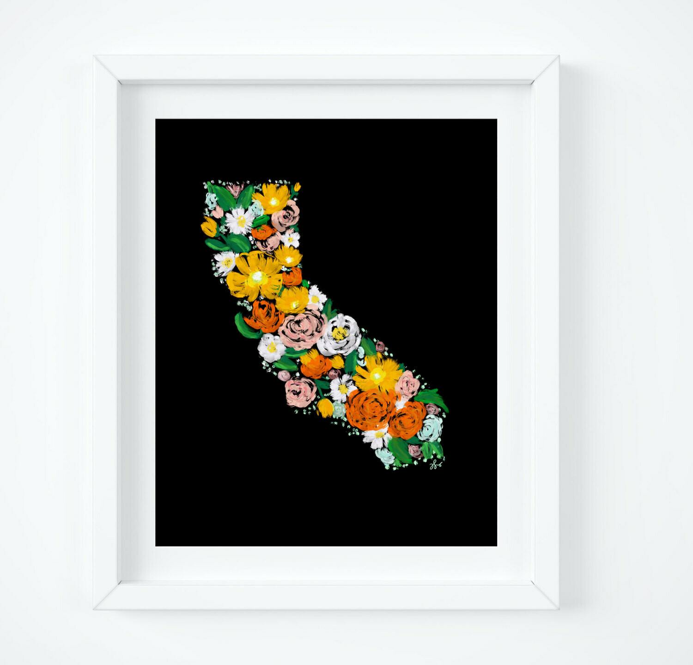 Floral California, 8x10 Art Print