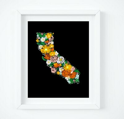 Floral California, 8x10 Art Print