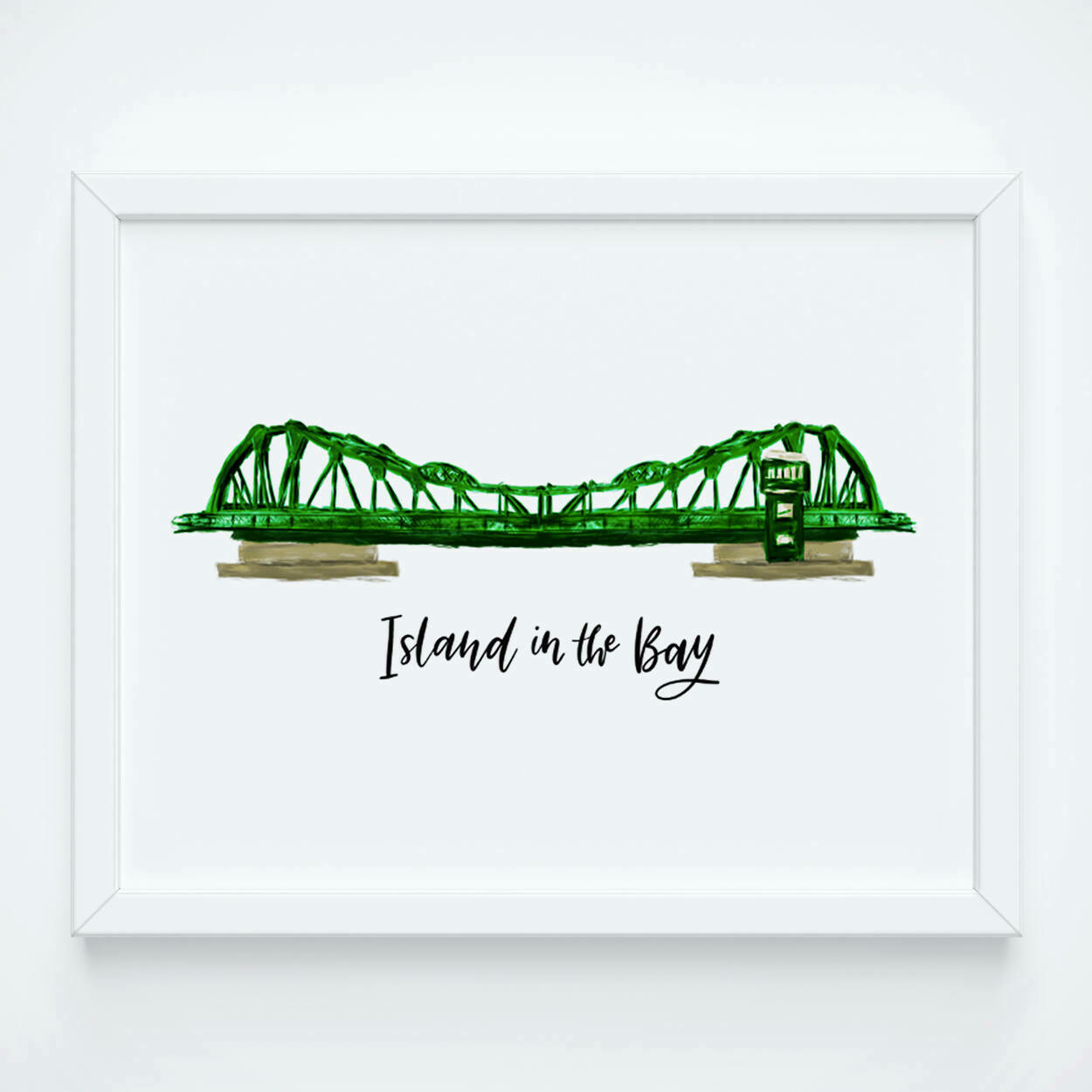 Park St Bridge - Island in the Bay, 8x10 Art Print
