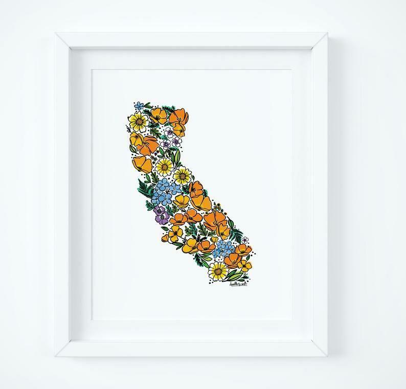 California Wildflowers, 8x10 Print