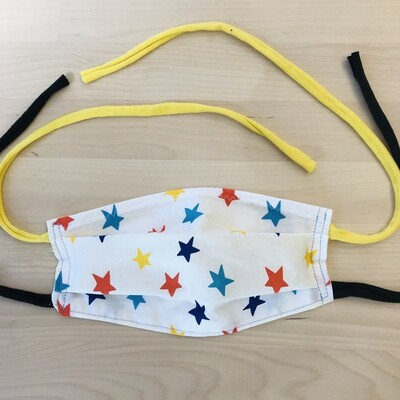 Handmade Mask w/ Pocket, Colorful Stars