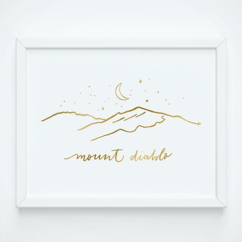 Mount Diablo Gold Foil, 8x10 Print