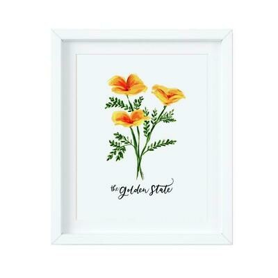 Poppies - The Golden State - Color, 8x10 Print