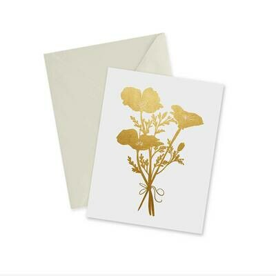 Card, Golden Poppies