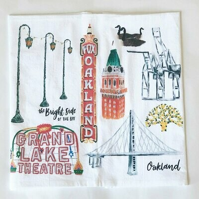 Oakland Collage Towel