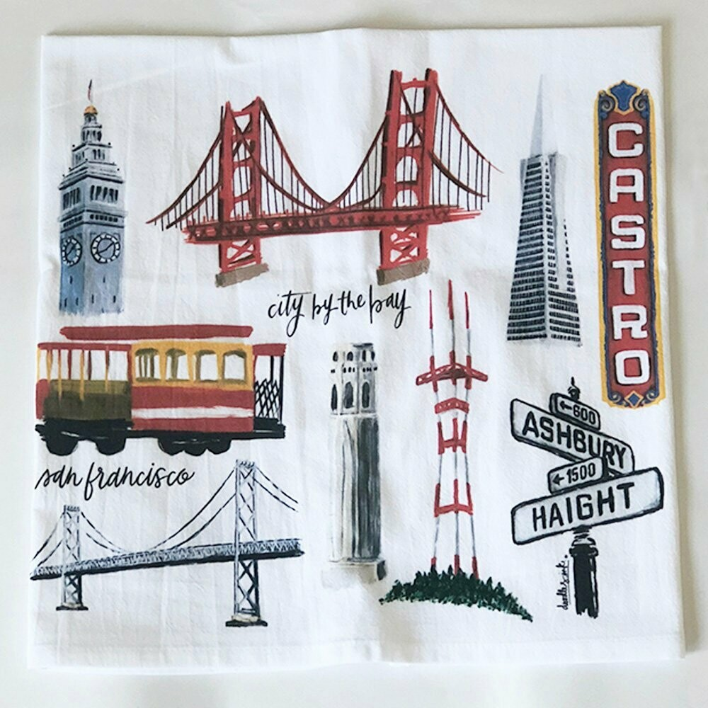 SF Collage Towel