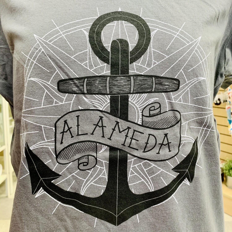Alameda Aweigh, Grey Feminine Tee