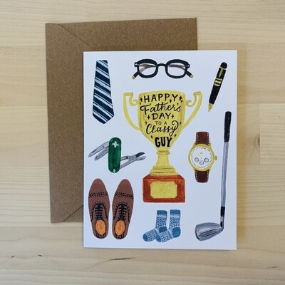 Classy Dad Items Father's Day Card
