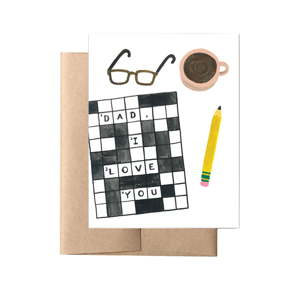 Crossword Dad Card