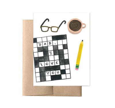 Crossword Dad Card