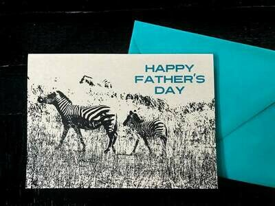 Zebra Happy Father's Day Card - NEW