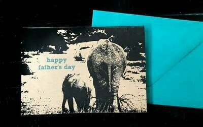 Elephant Happy Father's Day Card