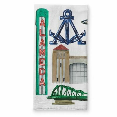 Alameda Collage Towel