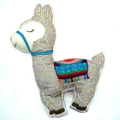 Crafty Creatures Embroidery Kit - Llama