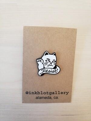 Resist Cat Enamel Pin