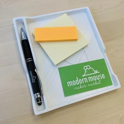 3-D Printed Desk Organizer, Design Base - White