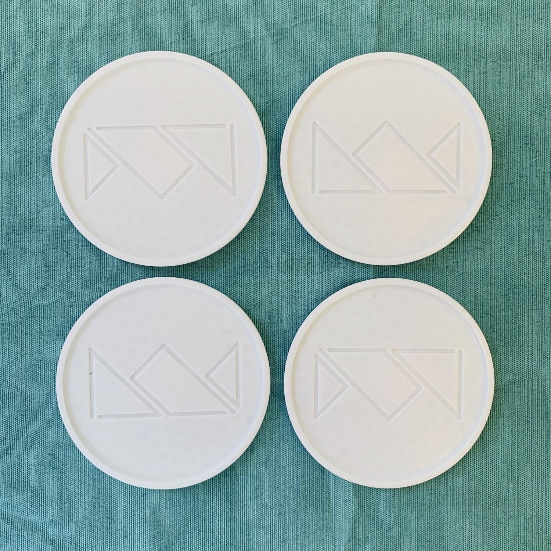 3-D Printed Crown Coasters (Set of 4)