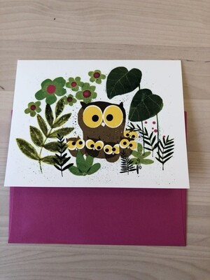 Mother Owl Card, Single