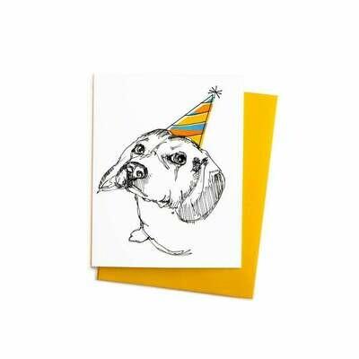 Party Beagle Card, Single