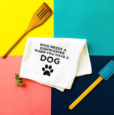 Dog Dishwasher Kitchen Towel