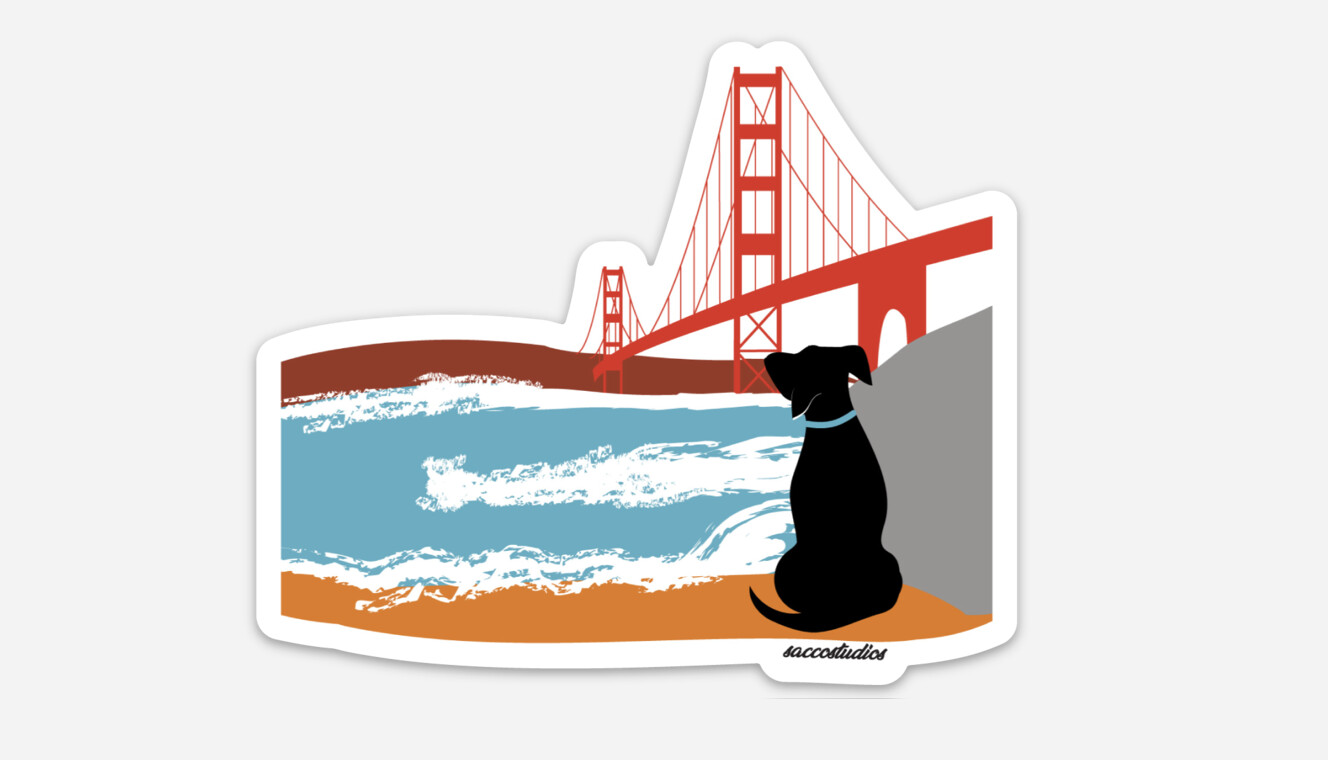 San Francisco Dog Decal Stickers