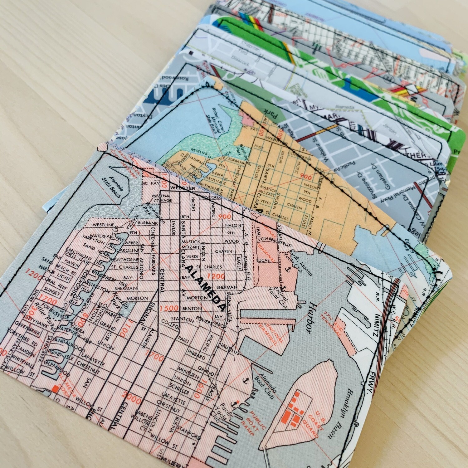 Slim Wallet - Map- Alameda