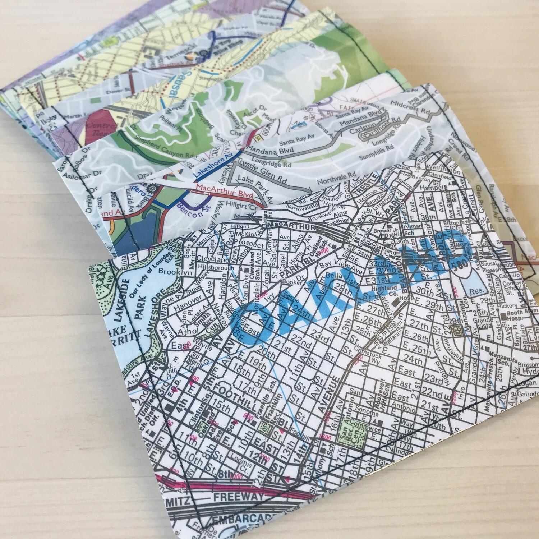 Slim Wallet - Map- Oakland