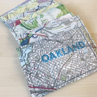 Slim Wallet - Map - Oakland
