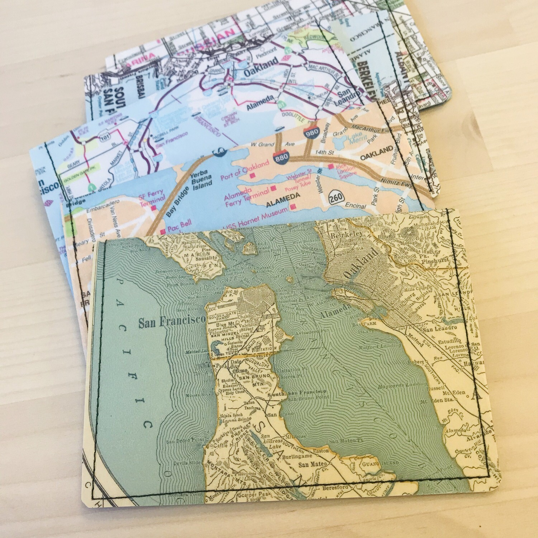 Slim Wallet - Map