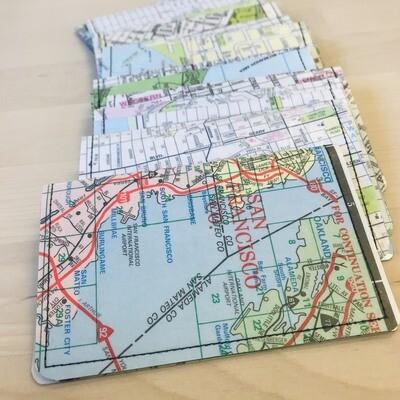 Slim Wallet - Map- SF