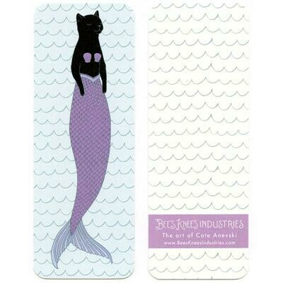 Black Purrmaid Bookmark