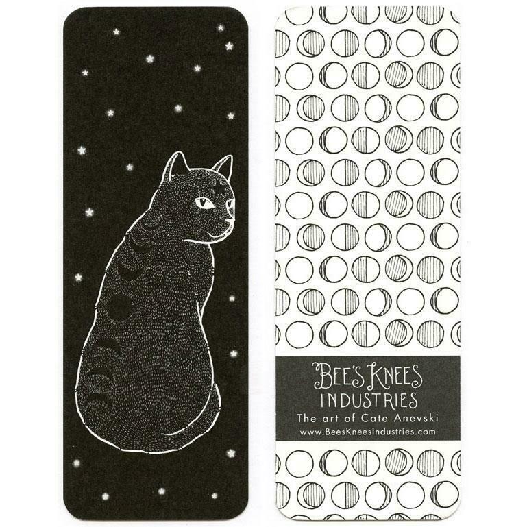 Moon Phase Cat Bookmark