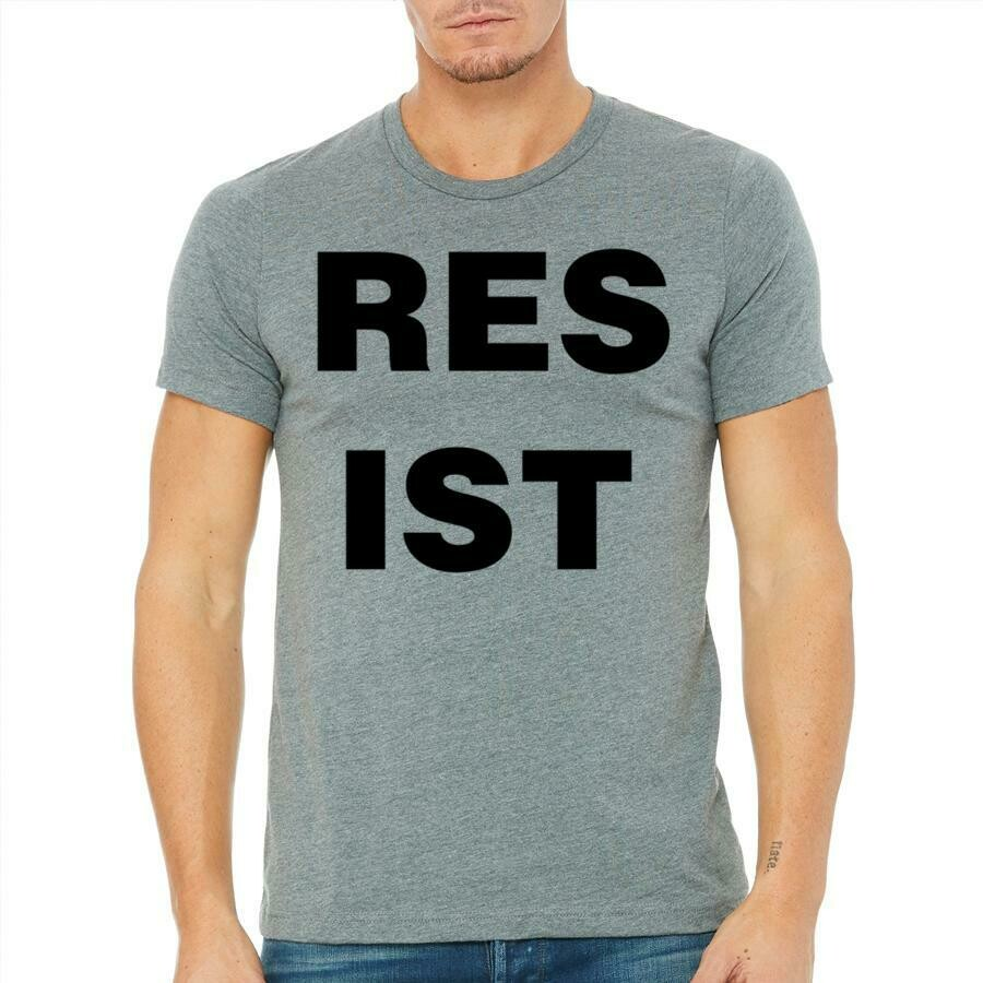 Masculine Resist Tee, Heather Grey