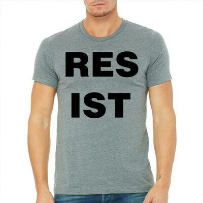 Masculine Resist Tee, Heather Grey