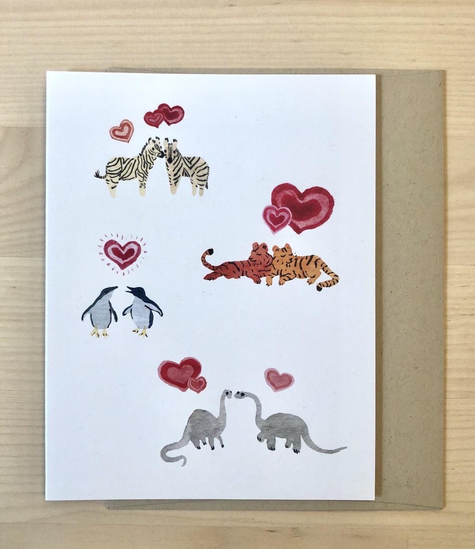 Animal Kingdom Love Card