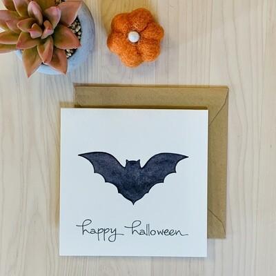 Batty Halloween Card