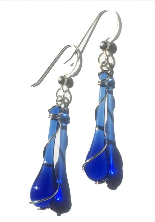 Cobalt Lyra Earrings