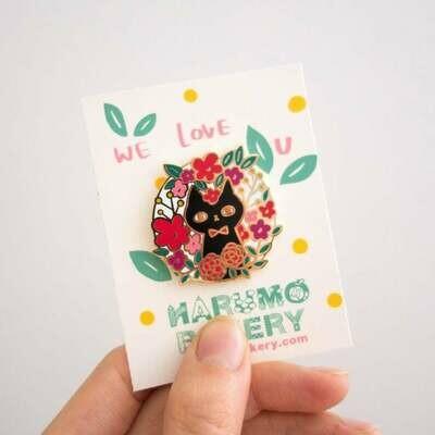 Flower Cat Enamel Pin