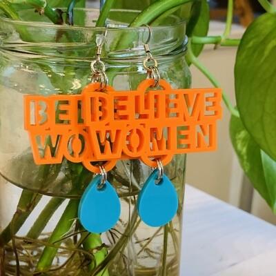 Believe Women Earrings, Turquoise & Orange