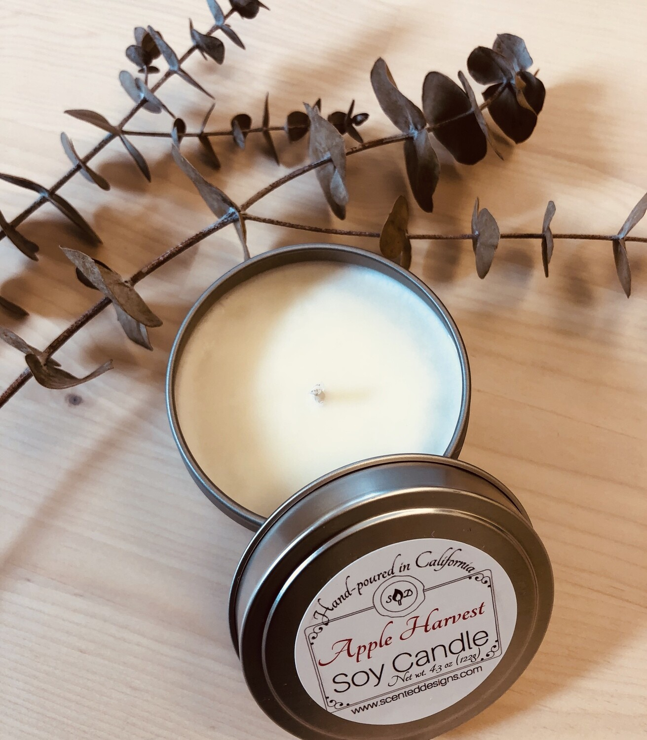 Travel Tin Soy Candle - Apple Harvest