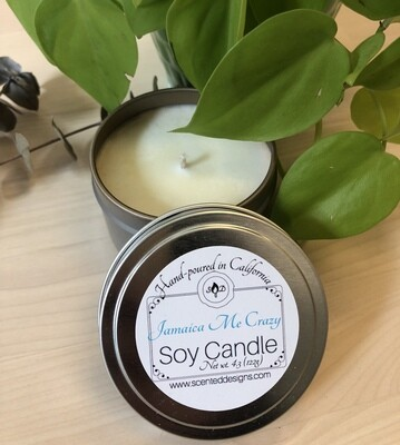 Travel Tin Soy Candle - Jamaica