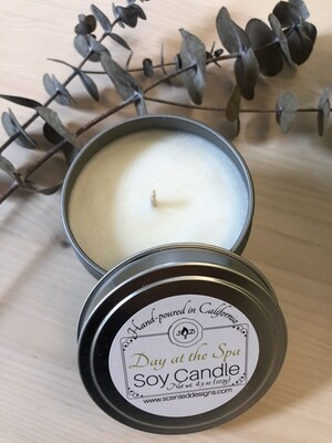 Travel Tin Soy Candle - Day at the Spa