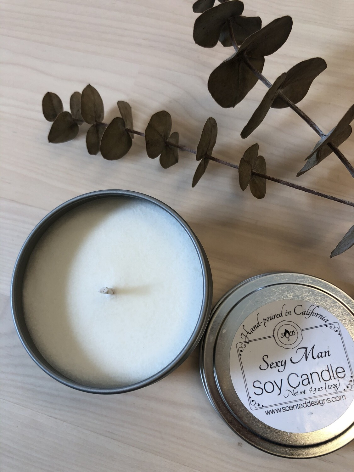 Travel Tin Soy Candle - Sexy Man