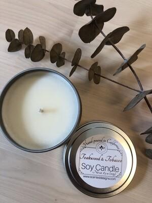 Travel Tin Soy Candle - Teakwood